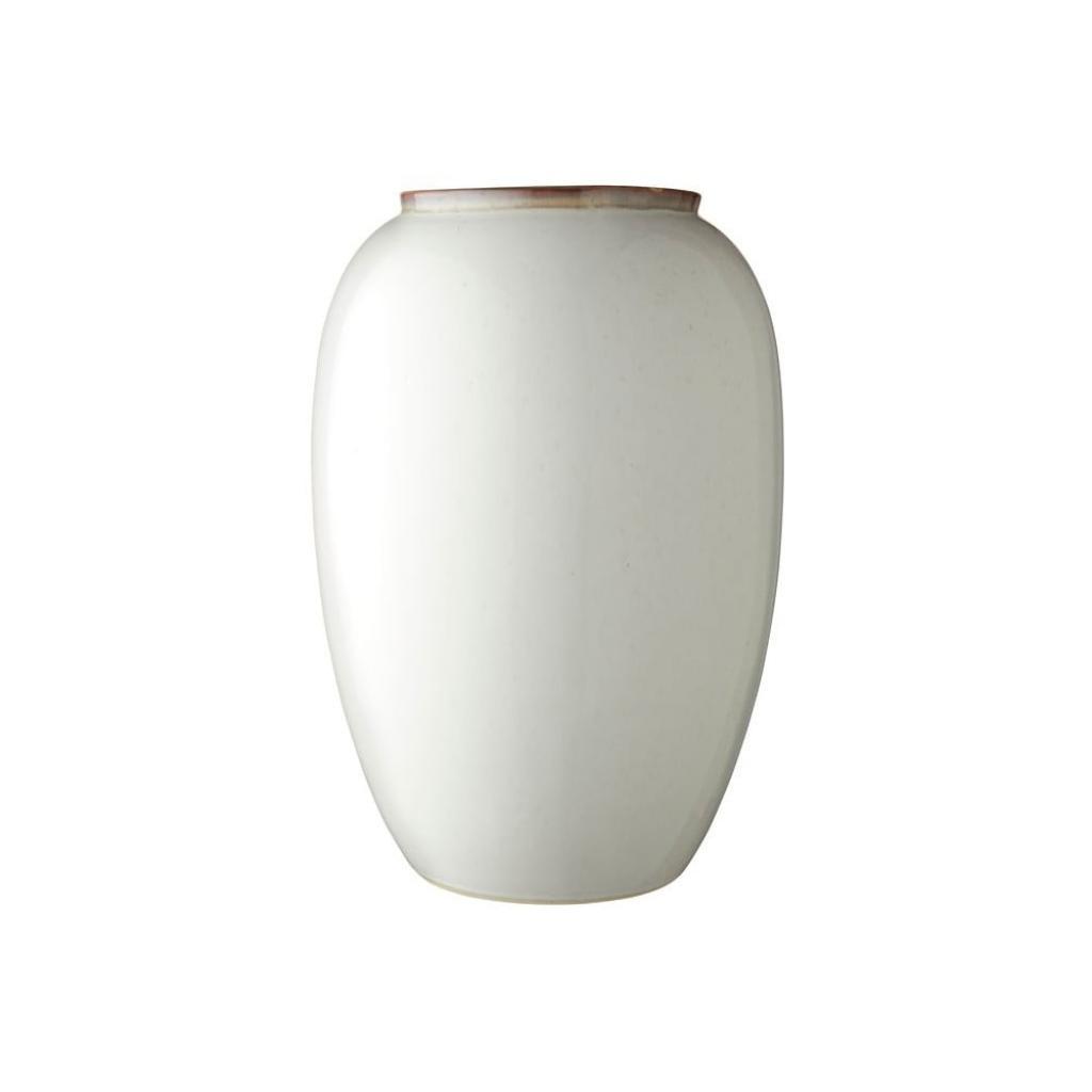 Produktové foto Krémová kameninová váza Bitz Basics Cream, výška 50 cm