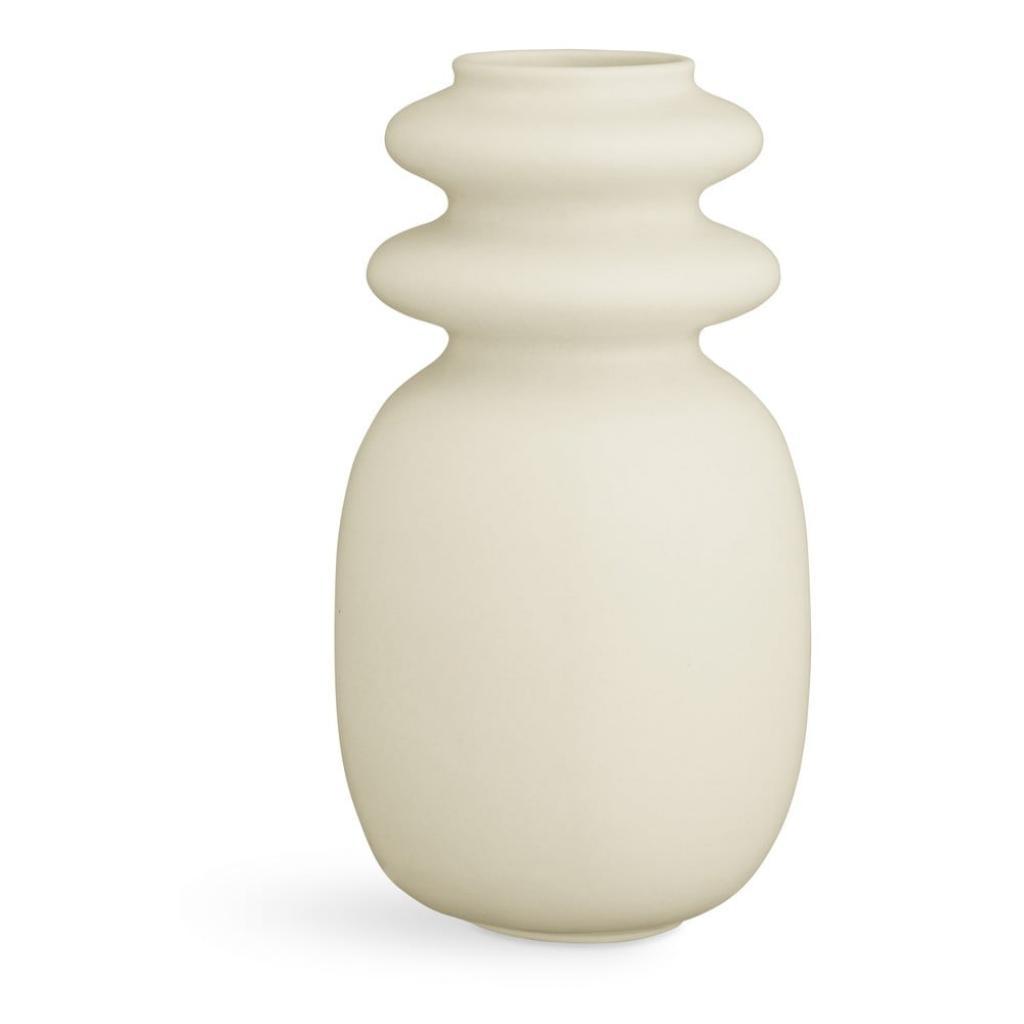 Produktové foto Krémově bílá keramická váza Kähler Design Kontur, výška29cm