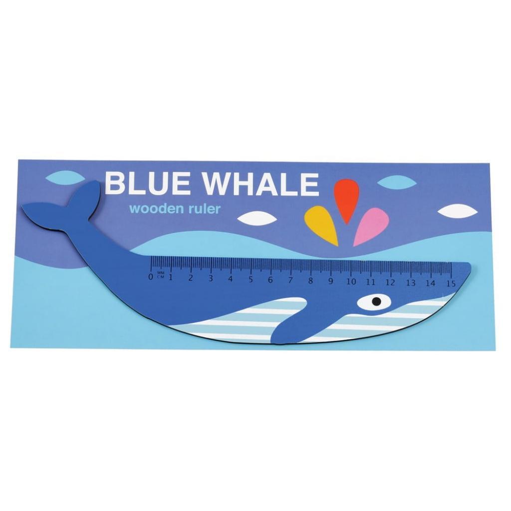 Produktové foto Dřevěné pravítko ve tvaru velryby Rex London Blue Whale