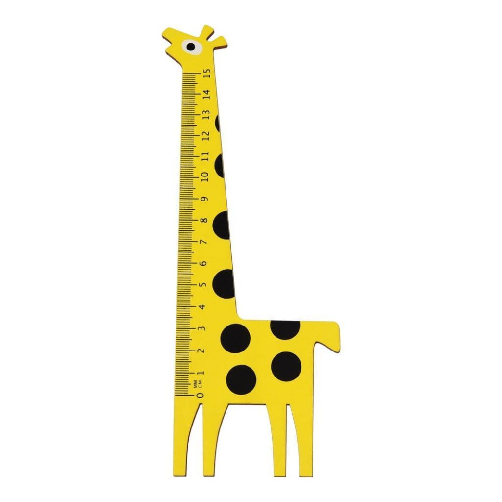 Produktové foto Dřevěné pravítko ve tvaru žirafy Rex London Yellow Giraffe