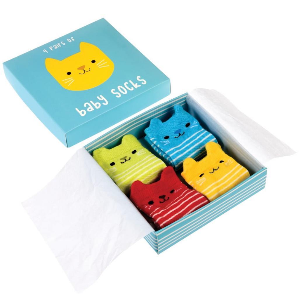 Produktové foto Sada 4 párů dětských ponožek s kočičkami Rex London
