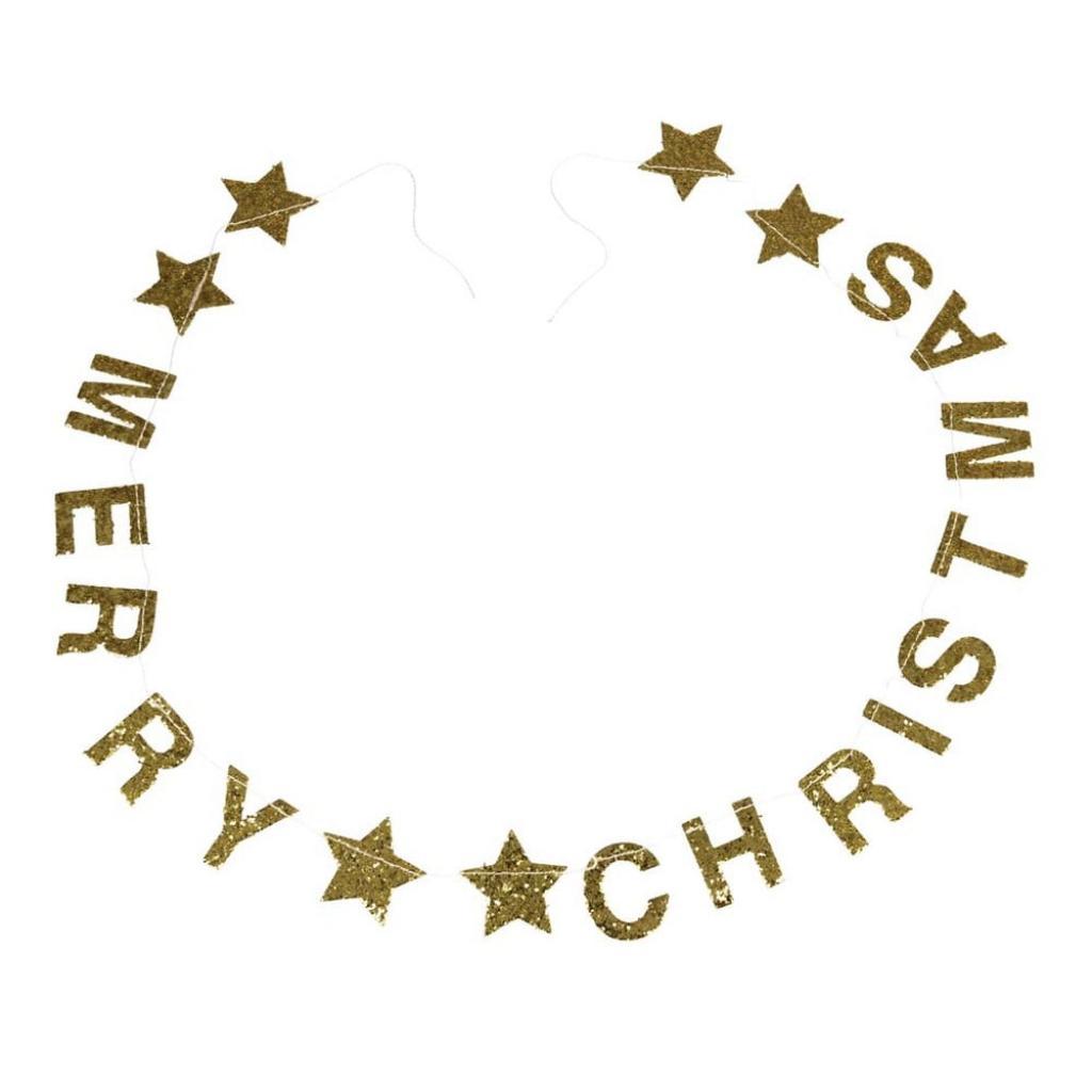 Produktové foto Vánoční girlanda s nápisem Rex London Gold Stars