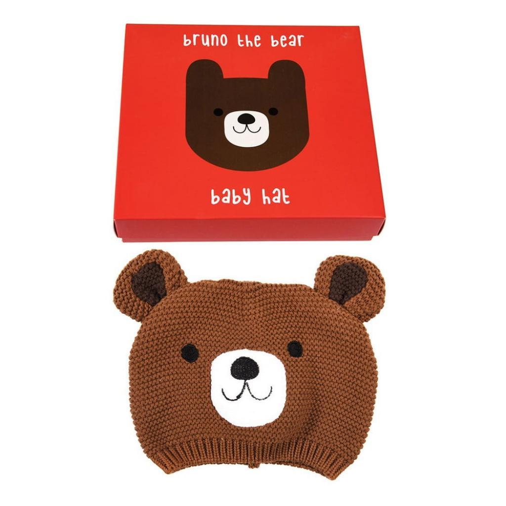 Produktové foto Dětská čepička ze 100% bavlny s medvídkem Rex London