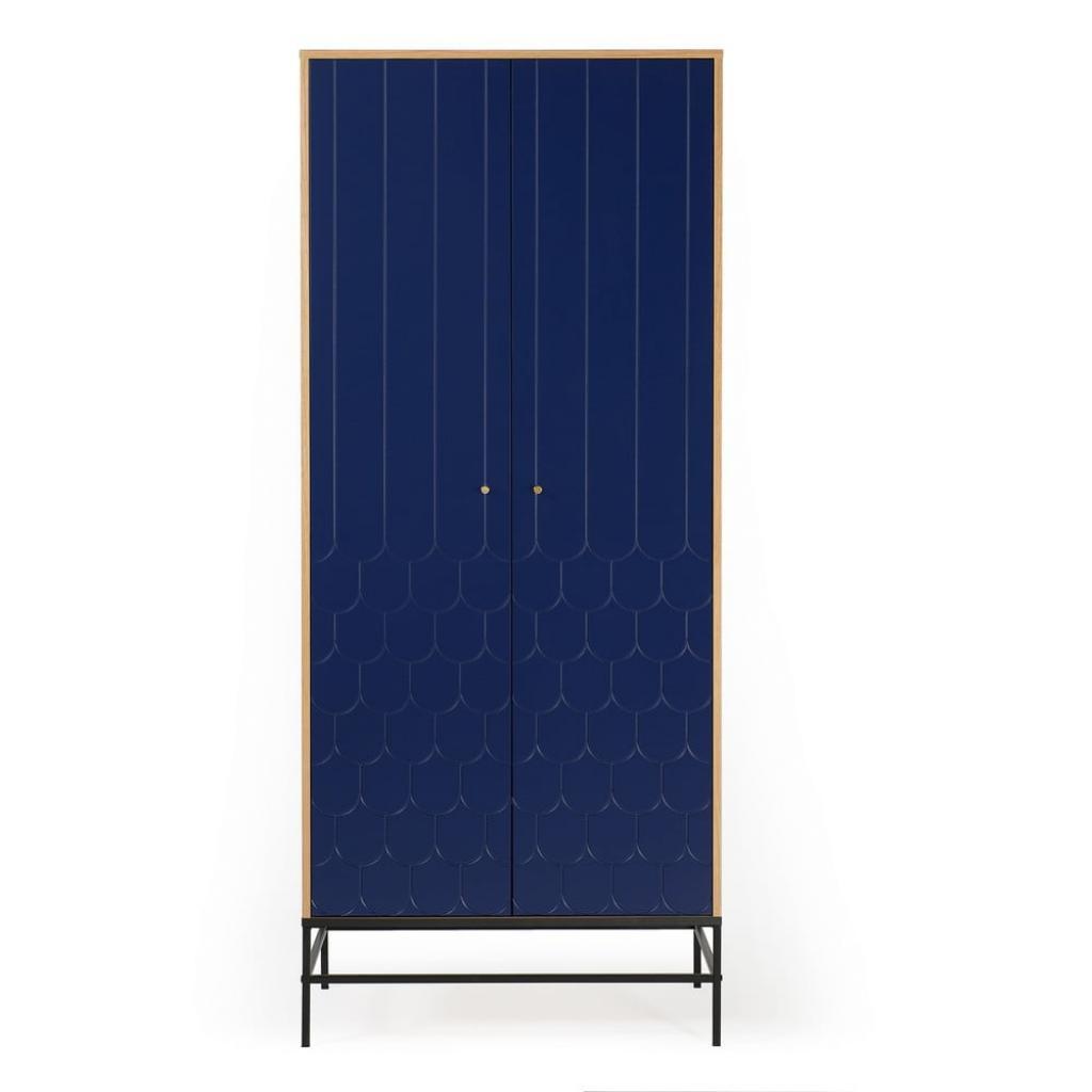 Produktové foto Tmavě modrá šatní skříň Woodman Lia