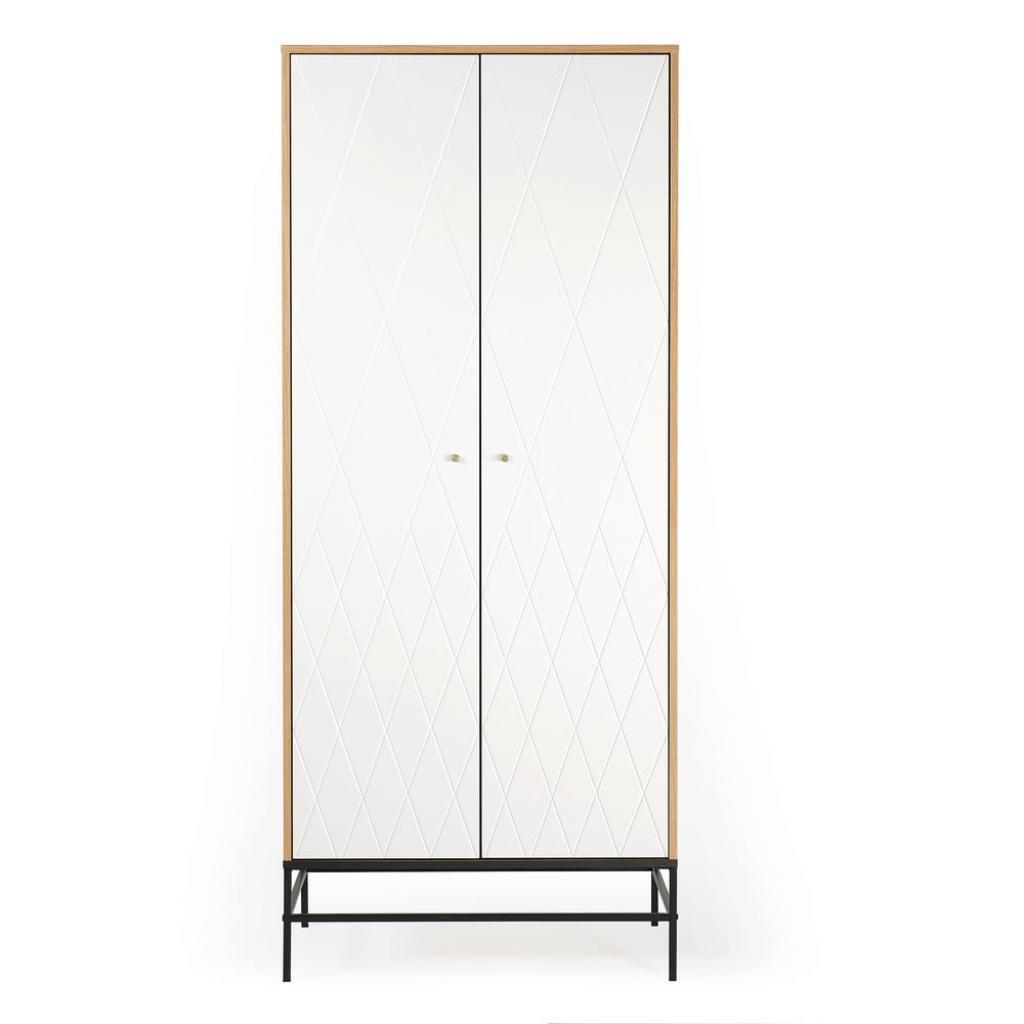 Produktové foto Bílá šatní skříň Woodman Mia