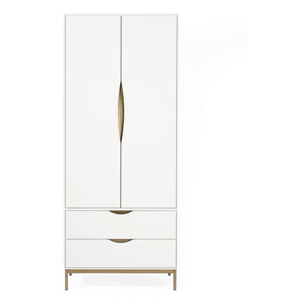 Produktové foto Bílá šatní skříň Woodman Kobe