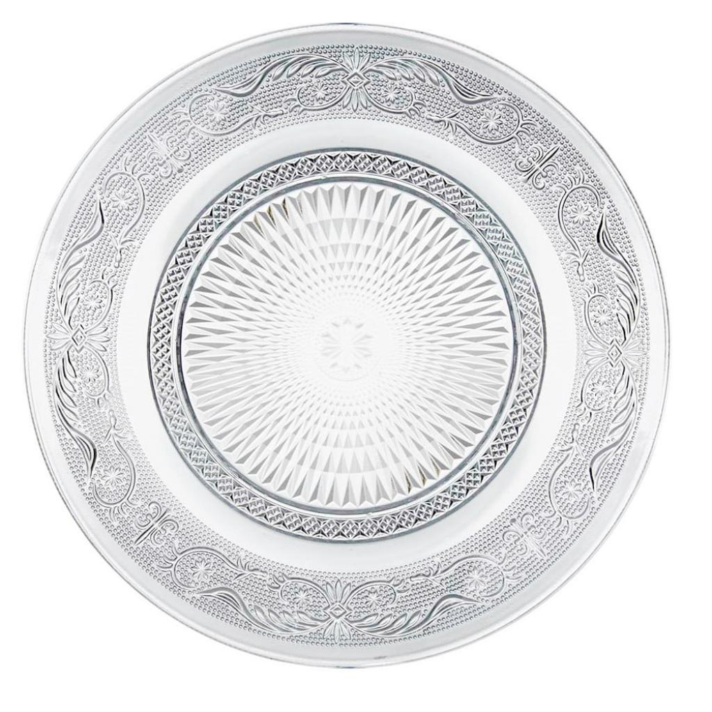 Produktové foto Skleněný talíř Unimasa Romance, ⌀ 25 cm