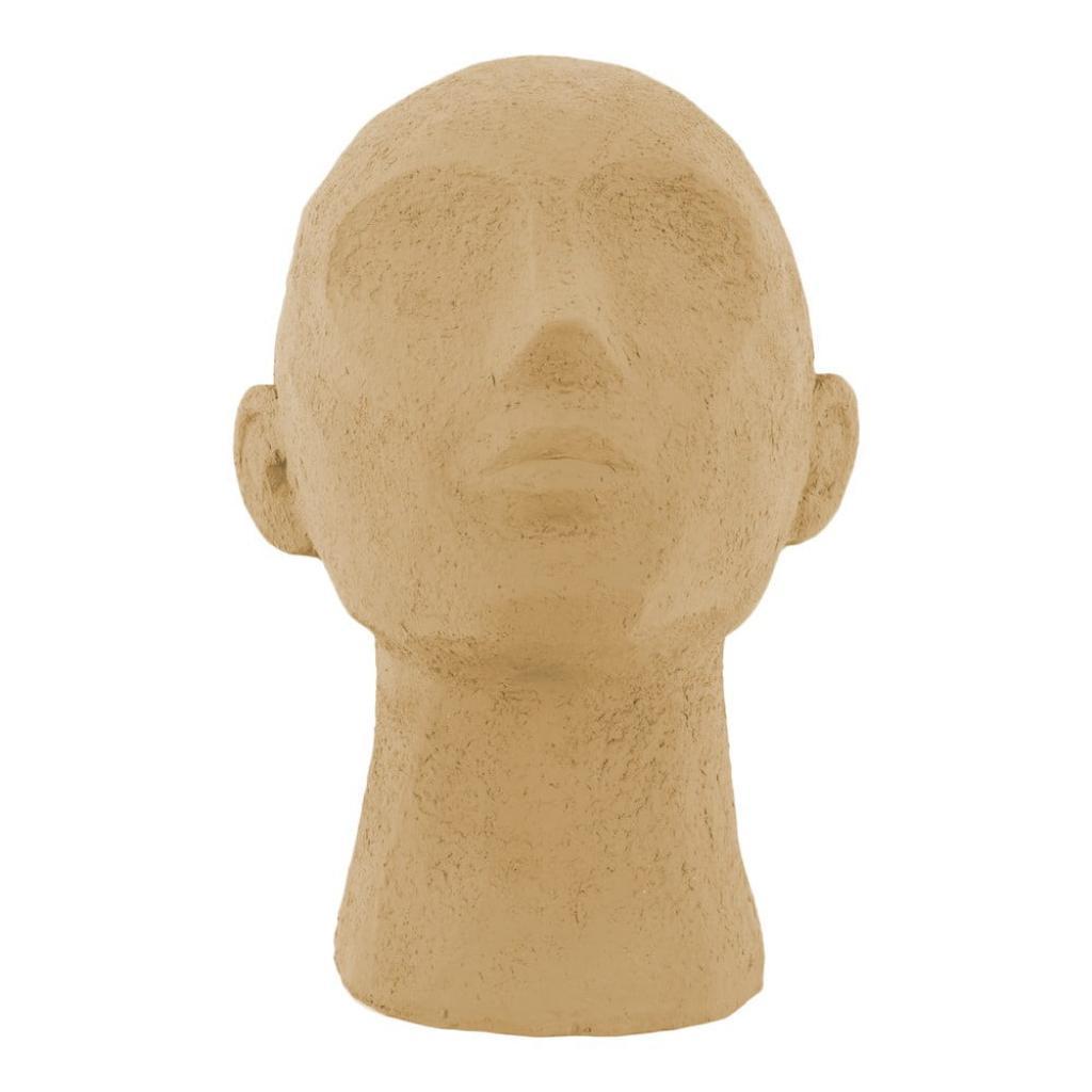 Produktové foto Pískově hnědá dekorativní soška PT LIVING Face Art, výška 22,8 cm
