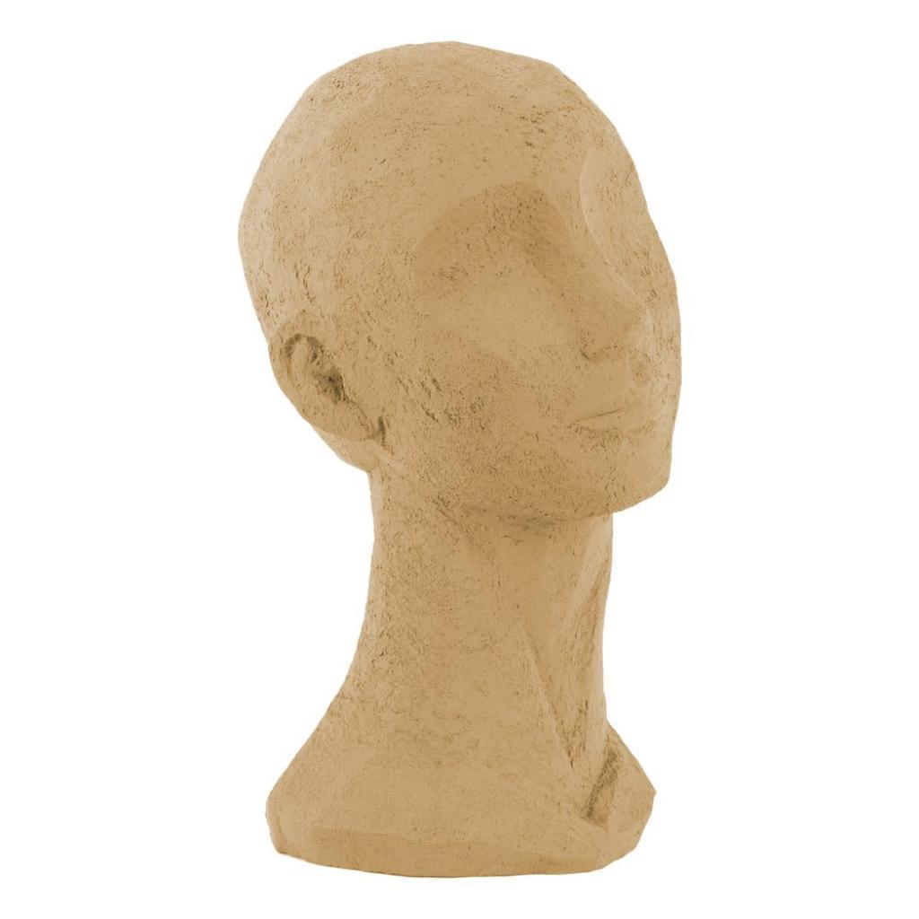 Produktové foto Pískově hnědá dekorativní soška PT LIVING Face Art, výška 28,4 cm