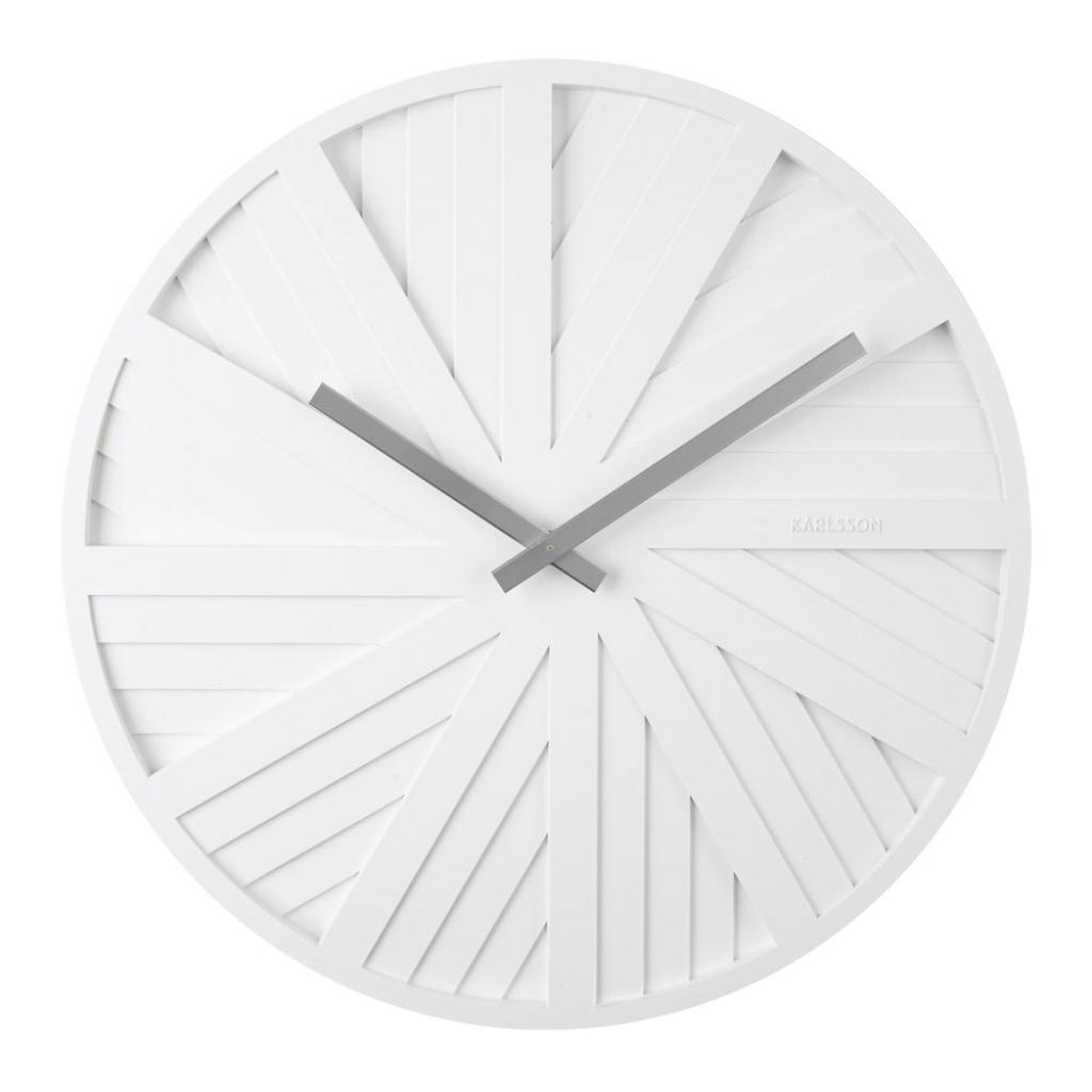 Produktové foto Bílé nástěnné hodiny Karlsson Slides, ø 40 cm