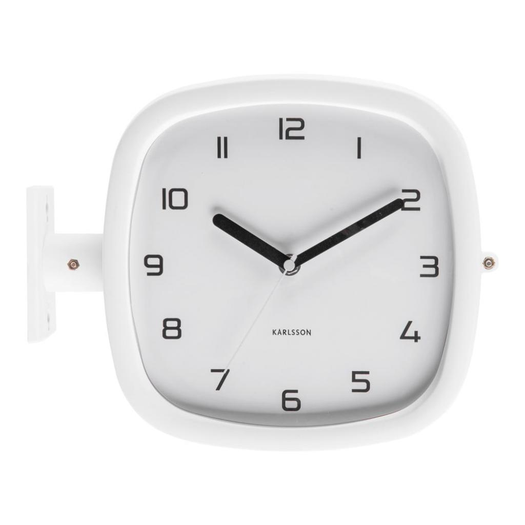 Produktové foto Bílé nástěnné hodiny Karlsson Slides, 29 x 24,5 cm