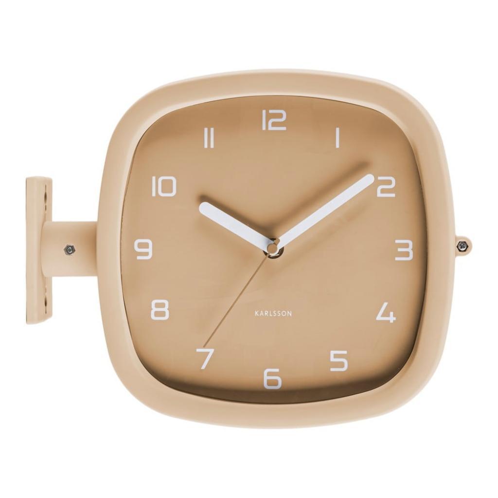 Produktové foto Pískově hnědé nástěnné hodiny Karlsson Slides, 29 x 24,5 cm