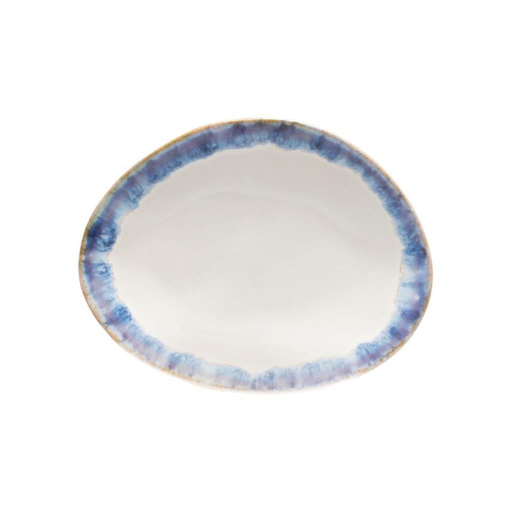 Produktové foto Modrobílý kameninový dezertní talíř Costa Nova Brisa