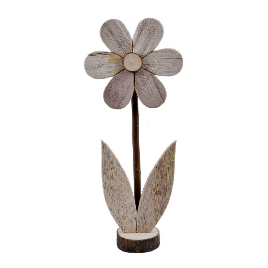 Produktové foto Velká dřevěná dekorace ve tvaru květiny EgoDekor, 16,5x39 cm