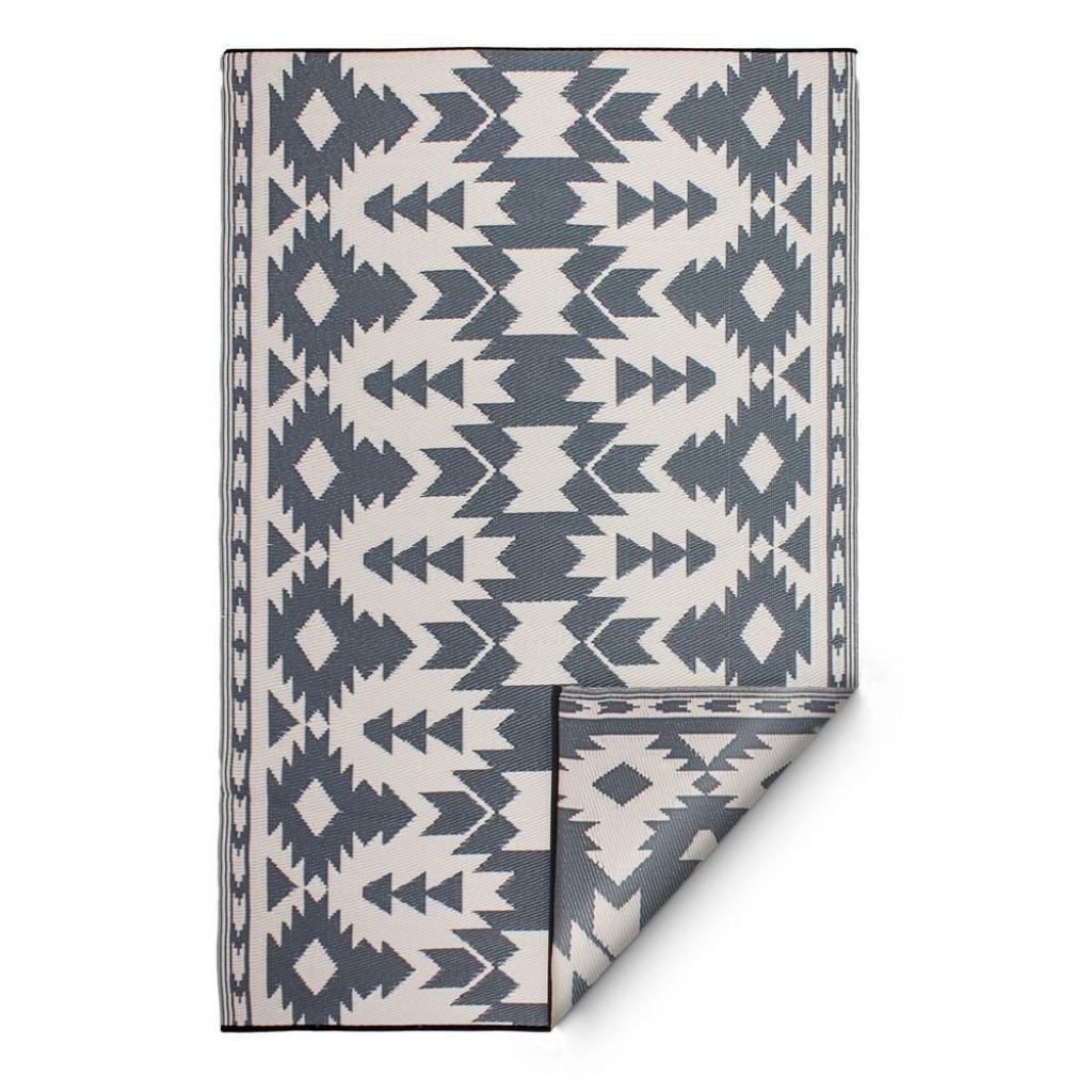 Produktové foto Šedý oboustranný venkovní koberec z recyklovaného plastu Fab Hab Miramar Gray, 120 x 180 cm