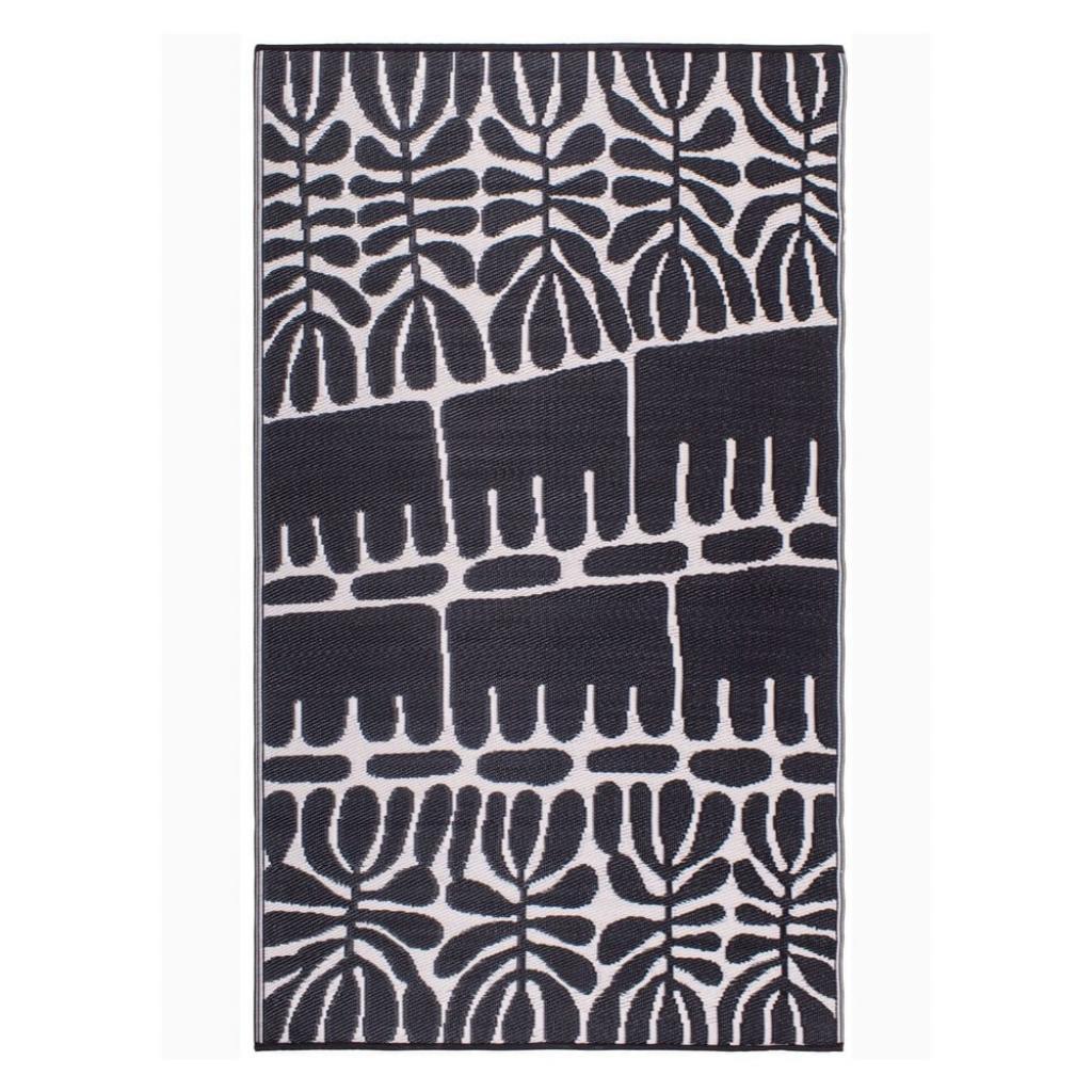 Produktové foto Černý oboustranný venkovní koberec z recyklovaného plastu Fab Hab Serowe Black, 120 x 180 cm