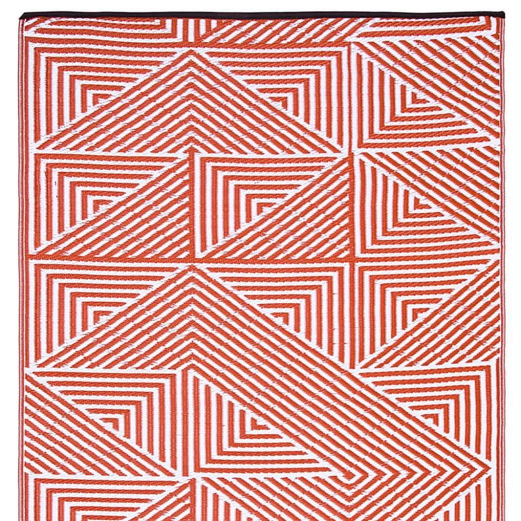 Produktové foto Oranžový oboustranný venkovní koberec z recyklovaného plastu Fab Hab Tokyo Burnt Orange, 120 x 180 cm