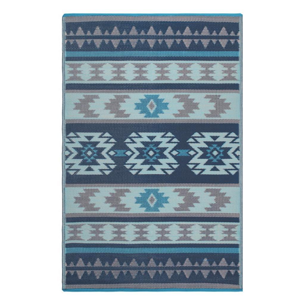 Produktové foto Modrý oboustranný venkovní koberec z recyklovaného plastu Fab Hab Cusco Blue, 120 x 180 cm