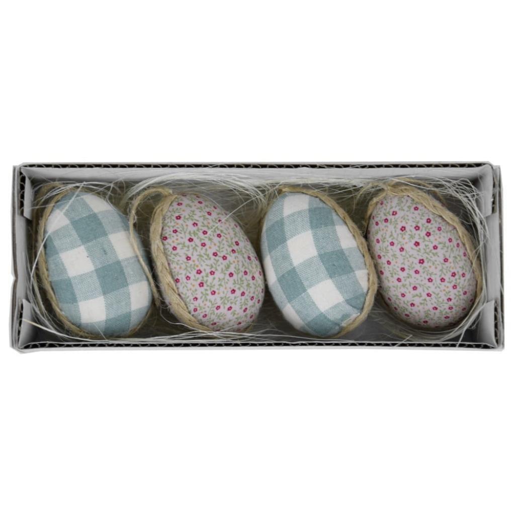 Produktové foto Sada 4 dekorativních velikonočních vajíček v boxu Ego Dekor, 19 x 5 cm