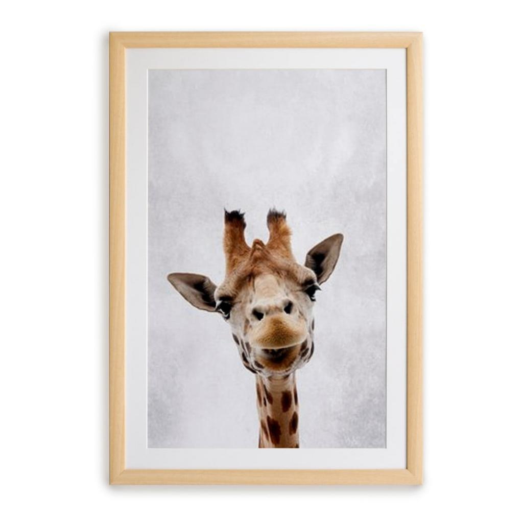 Produktové foto Nástěnný obraz v rámu Surdic Giraffe, 30 x 40 cm