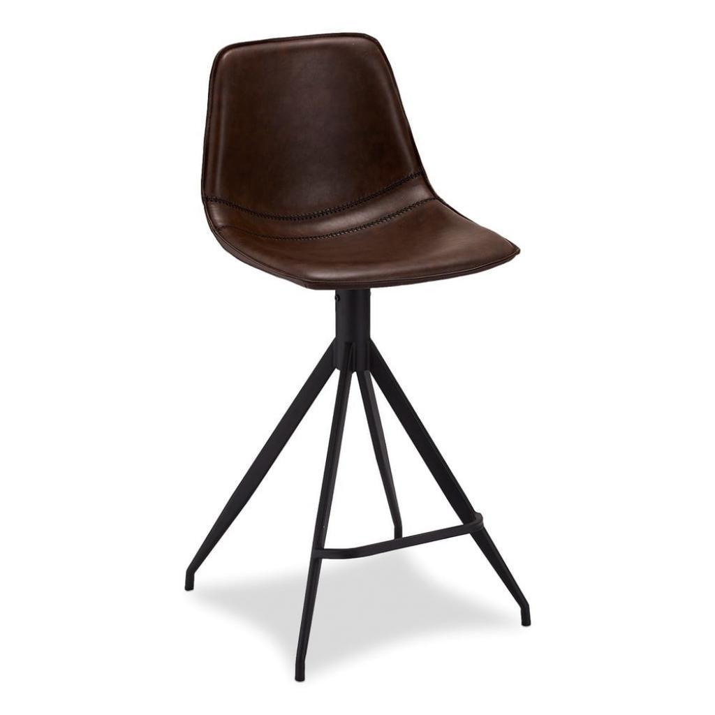 Produktové foto Sada 2 tmavě hnědých barových židlí Furnhouse Isabel