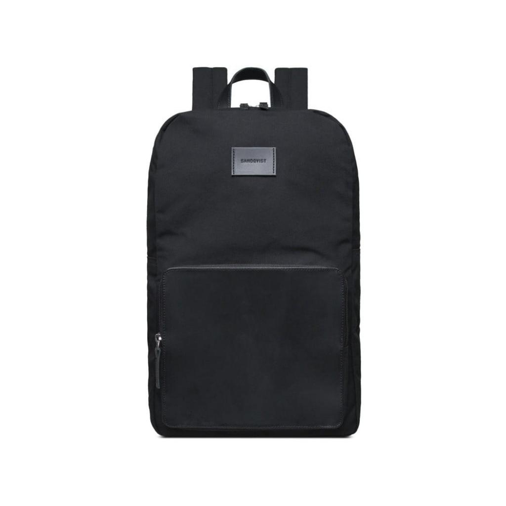 Produktové foto Černý batoh s koženými detaily Sandqvist Kim