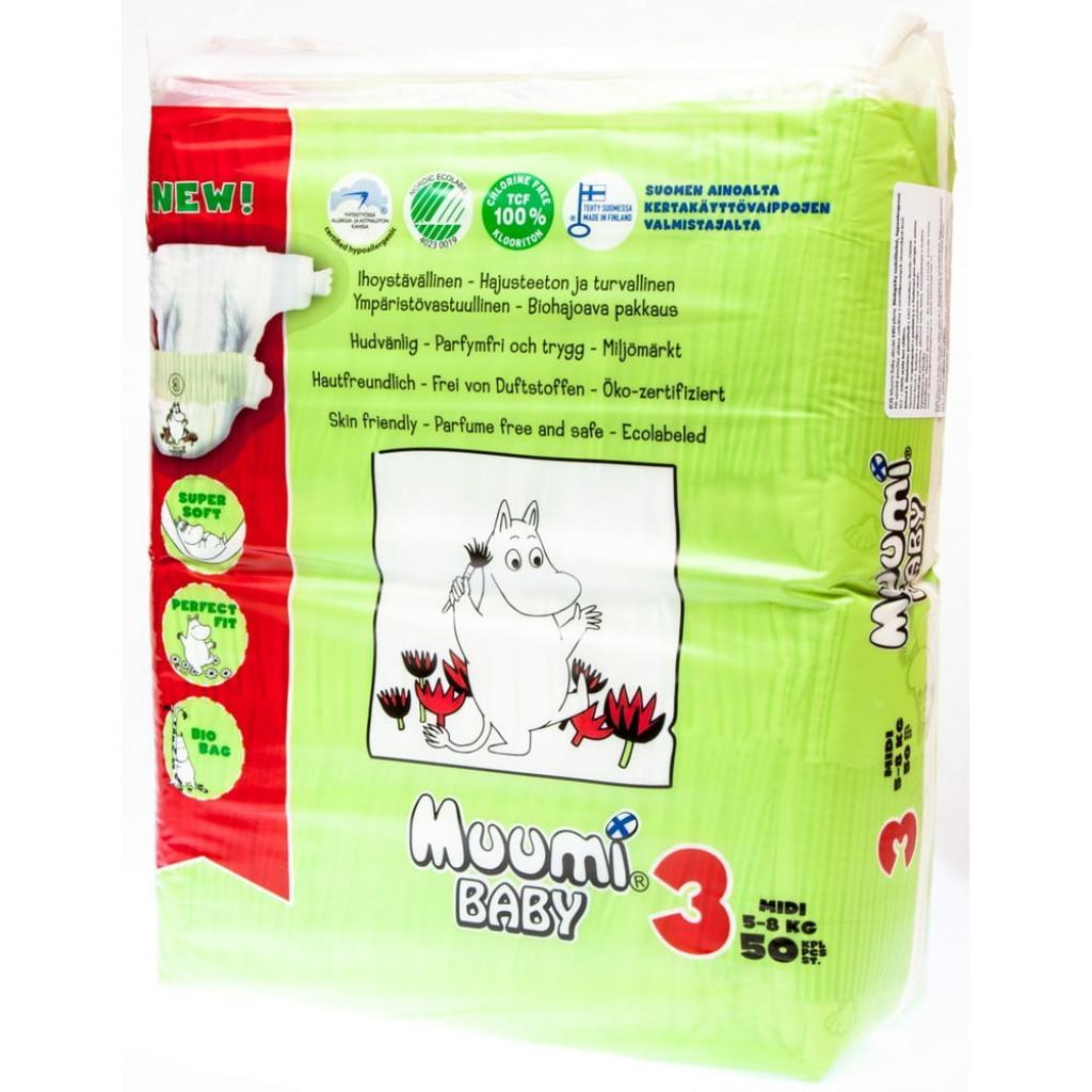 Produktové foto Dětské plenky Muumi Baby Midi, vel. 3, 3 x 50 kusů