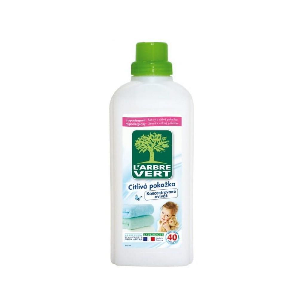Produktové foto Ekologická hypoalergenní aviváž L´Arbre Vert, 2 x 750 ml (40 praní)