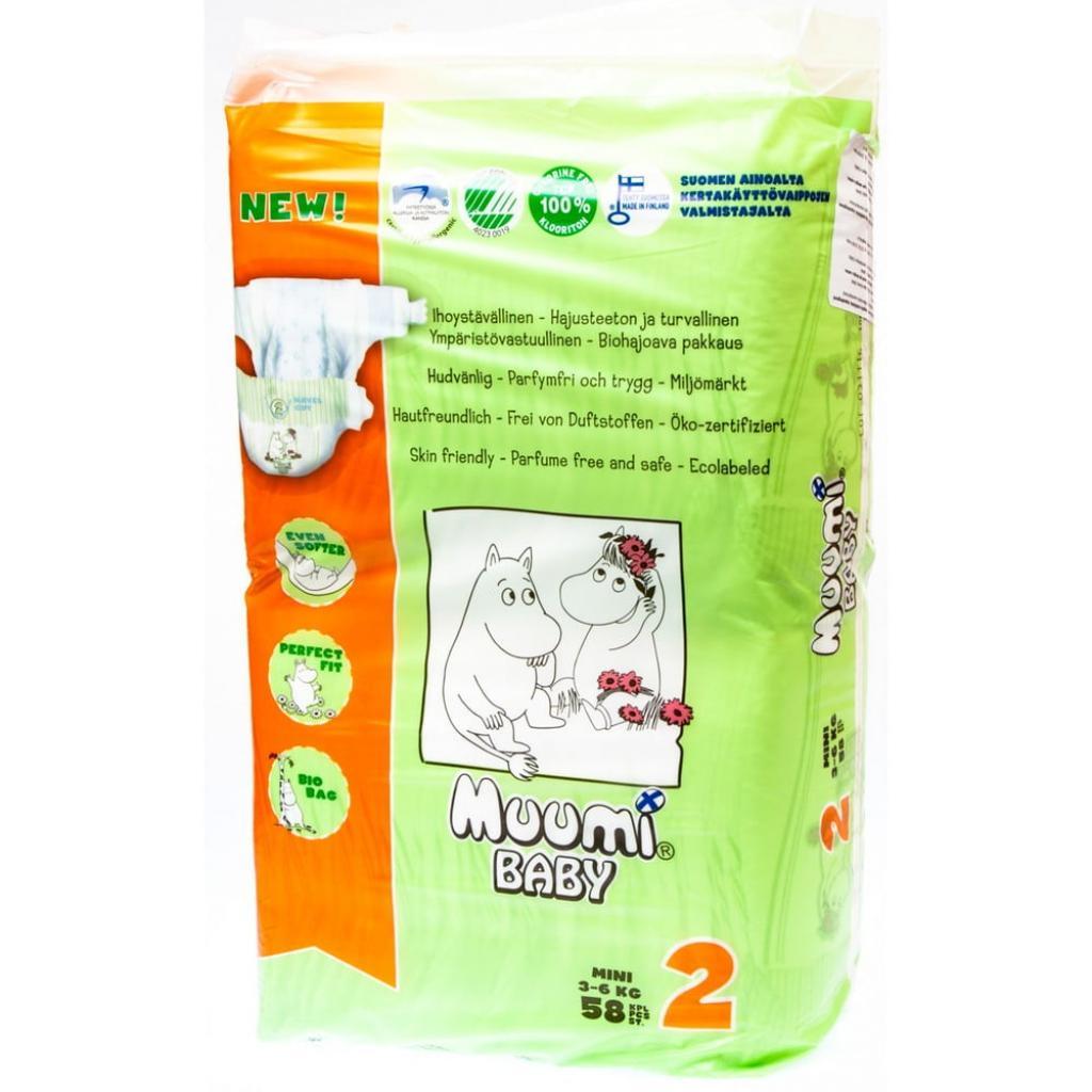 Produktové foto Dětské plenky Muumi Baby Mini, vel. 2, 3 x 58 kusů