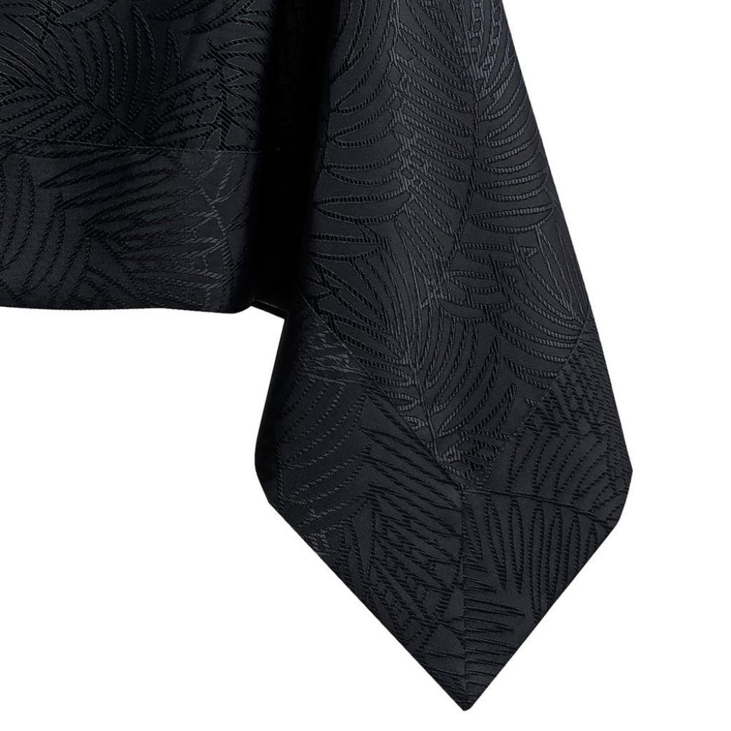 Produktové foto Černý ubrus AmeliaHome Gaia Black, 140 x 300 cm