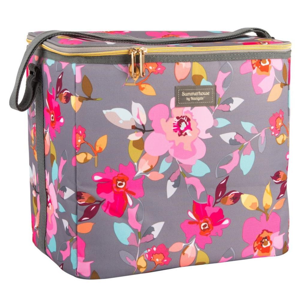 Produktové foto Květovaná chladící taška Navigate Grey Floral, 20 l