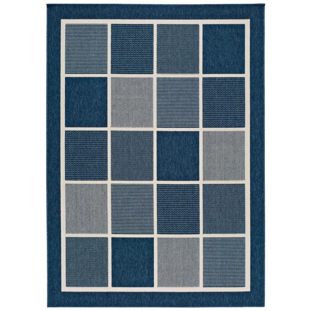 Produktové foto Modrý venkovní koberec Universal Nicol Squares, 80 x 150 cm