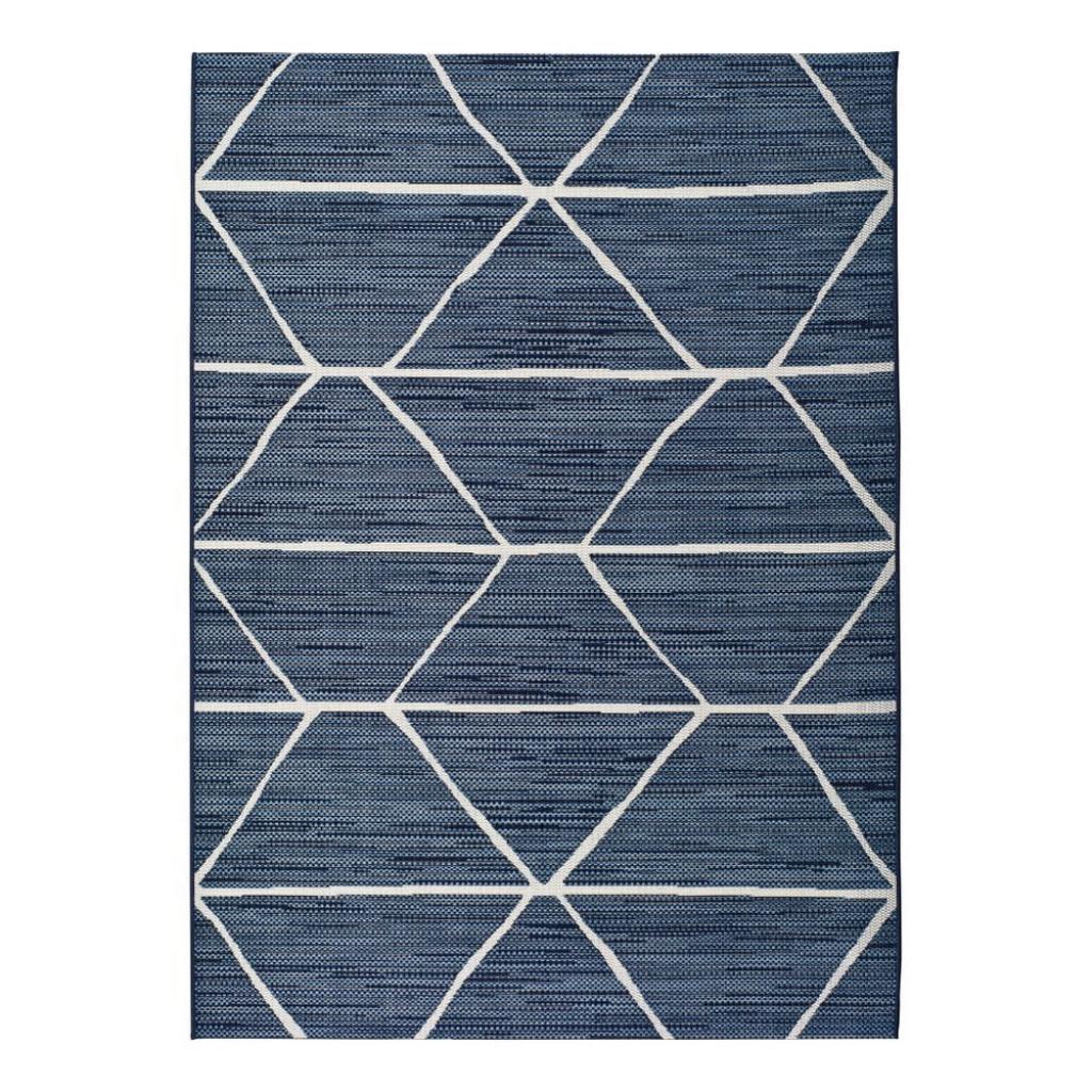 Produktové foto Modrý venkovní koberec Universal Elba, 120x170cm