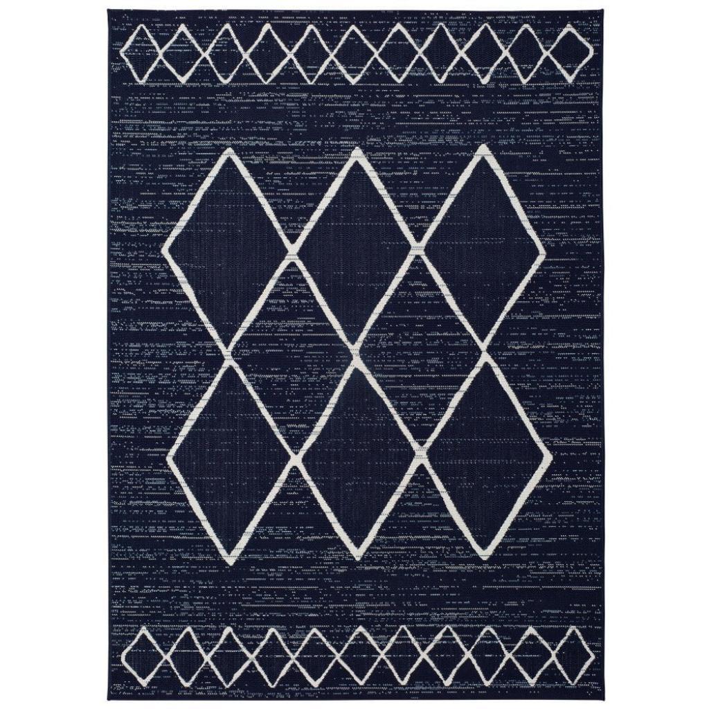 Produktové foto Tmavě modrý venkovní koberec Universal Elba, 80 x 150 cm