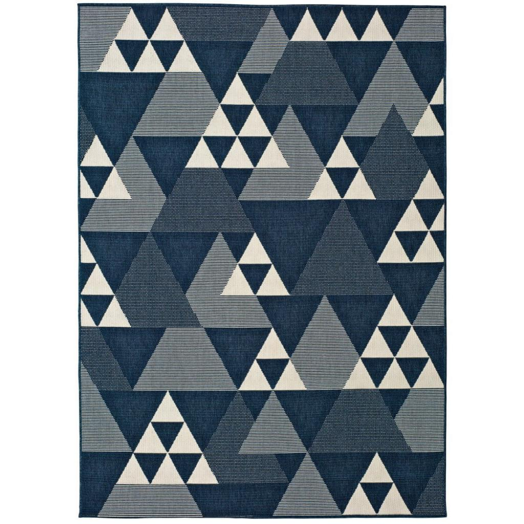 Produktové foto Modrý venkovní koberec Universal Clhoe Triangles, 160 x 230 cm