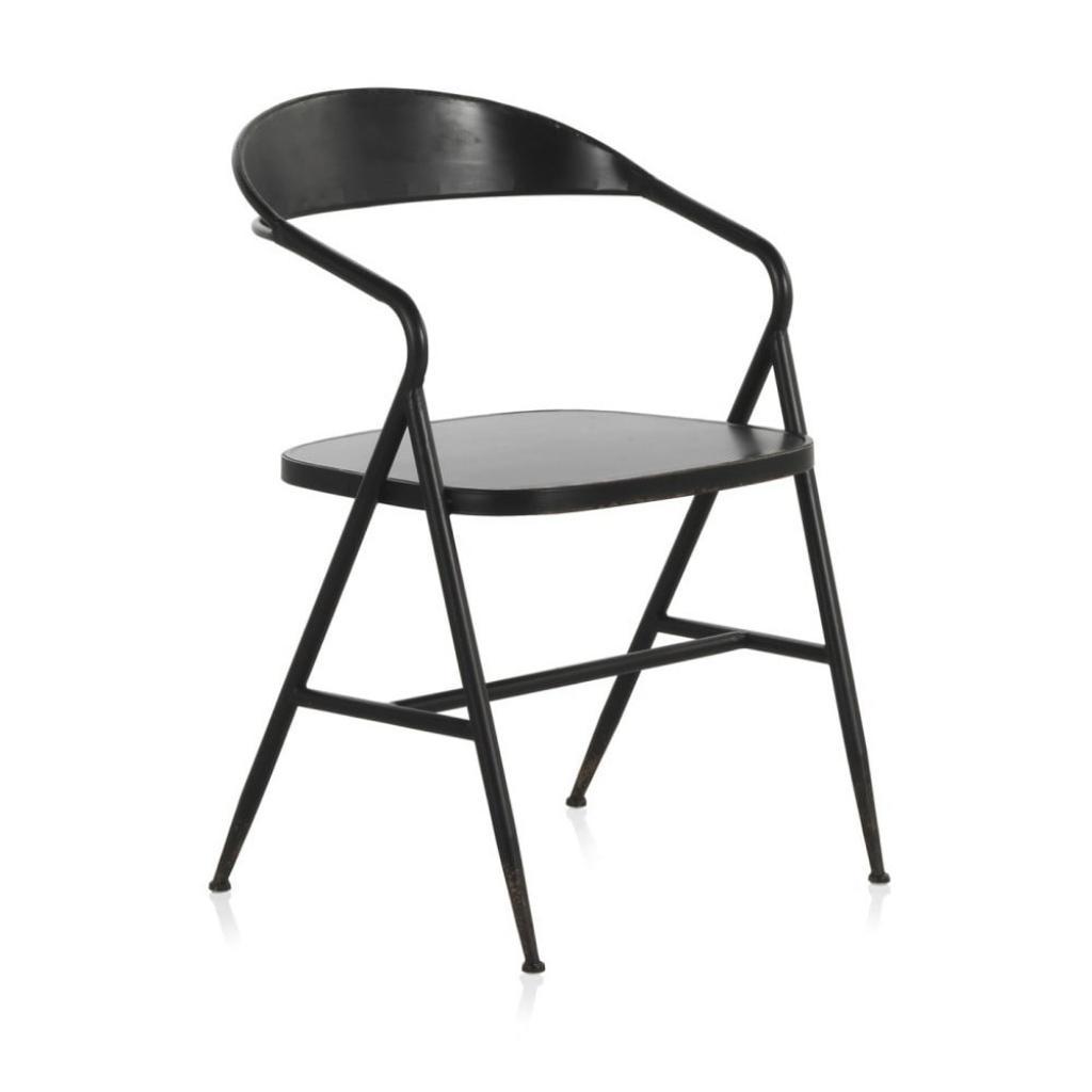 Produktové foto Černé kovové křeslo Geese Industrial Style Puro