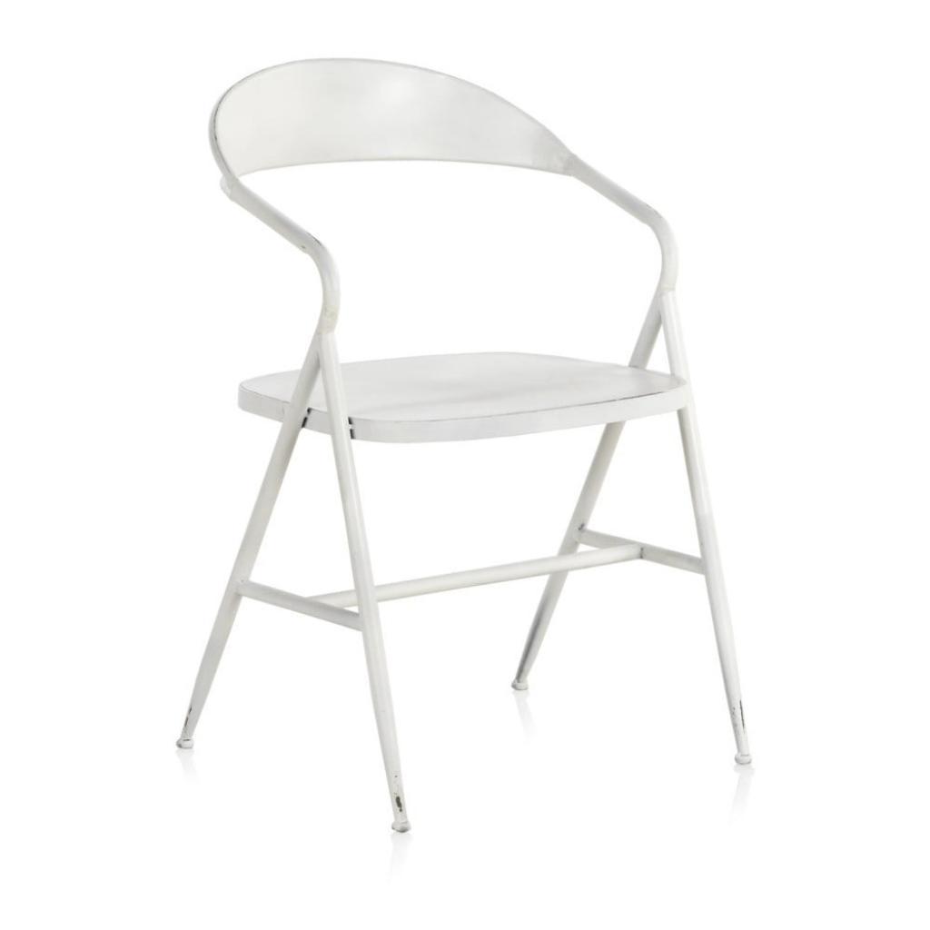 Produktové foto Bílé kovové křeslo Geese Industrial Style Puro