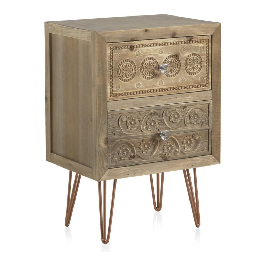 Produktové foto Noční stolek se 2 zásuvkami Geese Lisboa