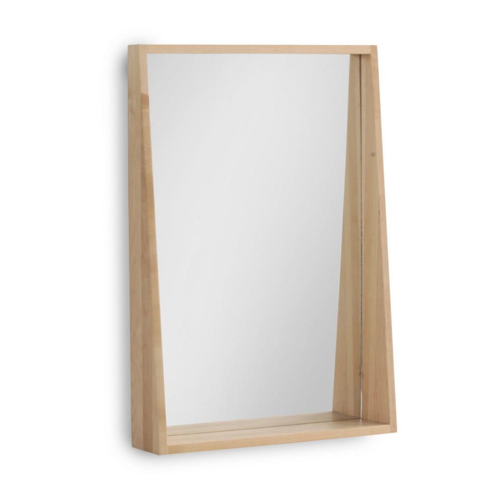 Produktové foto Nástěnné zrcadlo z březového dřeva Geese Pure, 65 x 45 cm