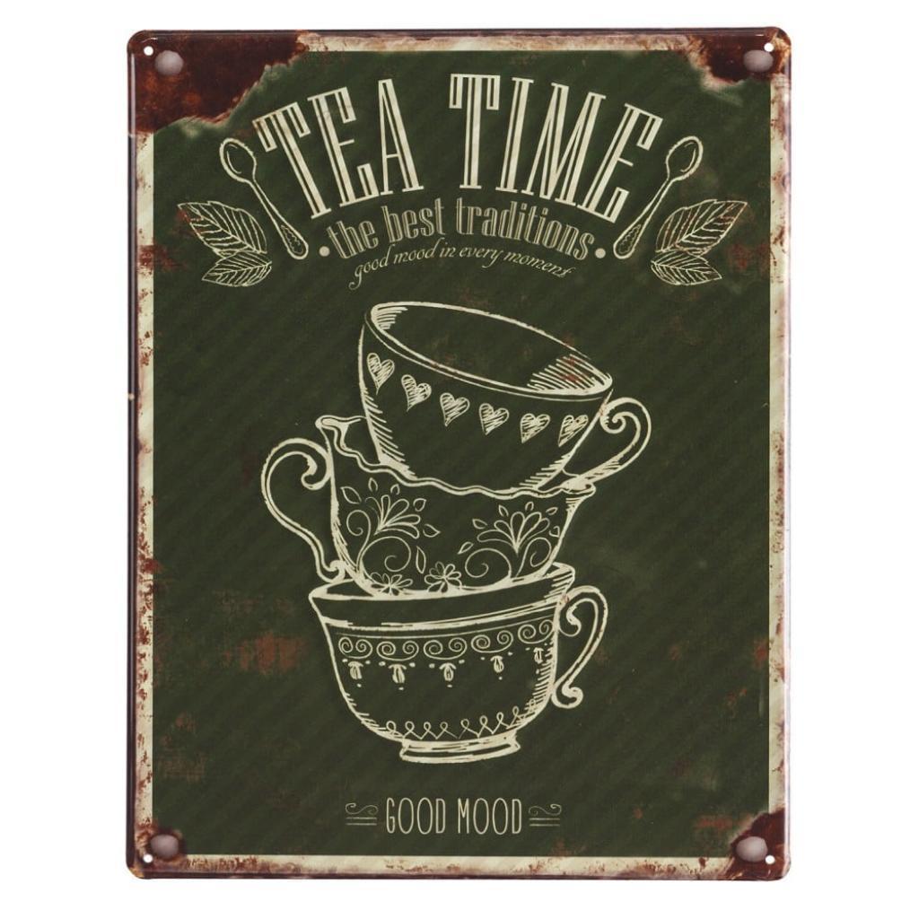 Produktové foto Sada 4 nástěnných kovových dekorací Geese Coffee