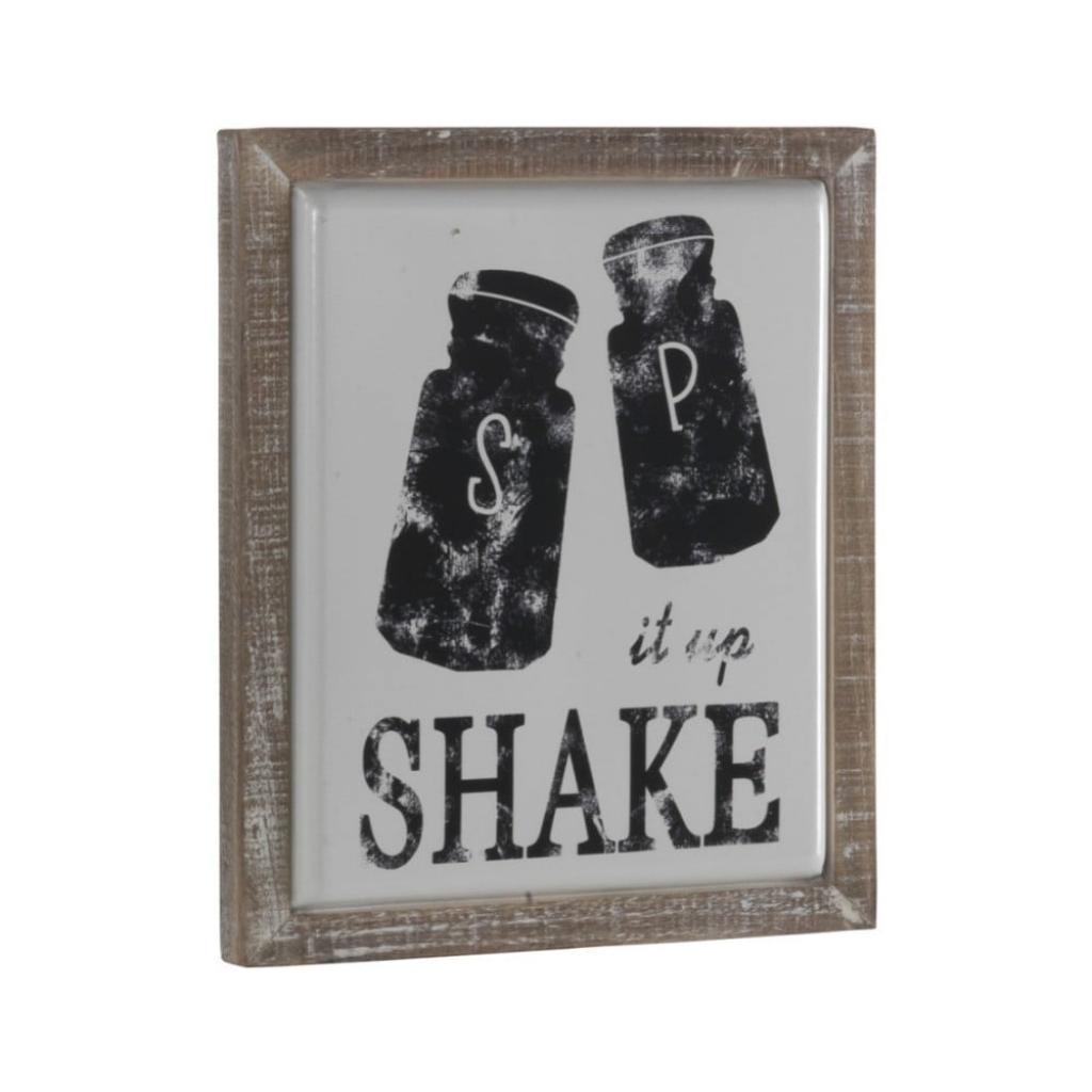Produktové foto Dekorativní cedule v dřevěném rámu Geese Shake