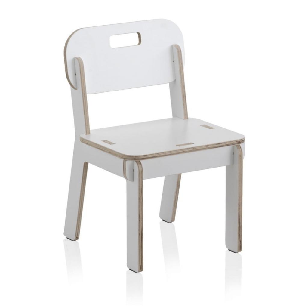 Produktové foto Bílá dětská židle z překližky Geese Piper