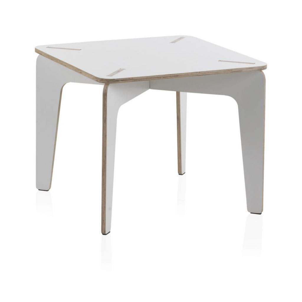 Produktové foto Bílý dětský stůl z překližky Geese Piper, 60 x 60 cm