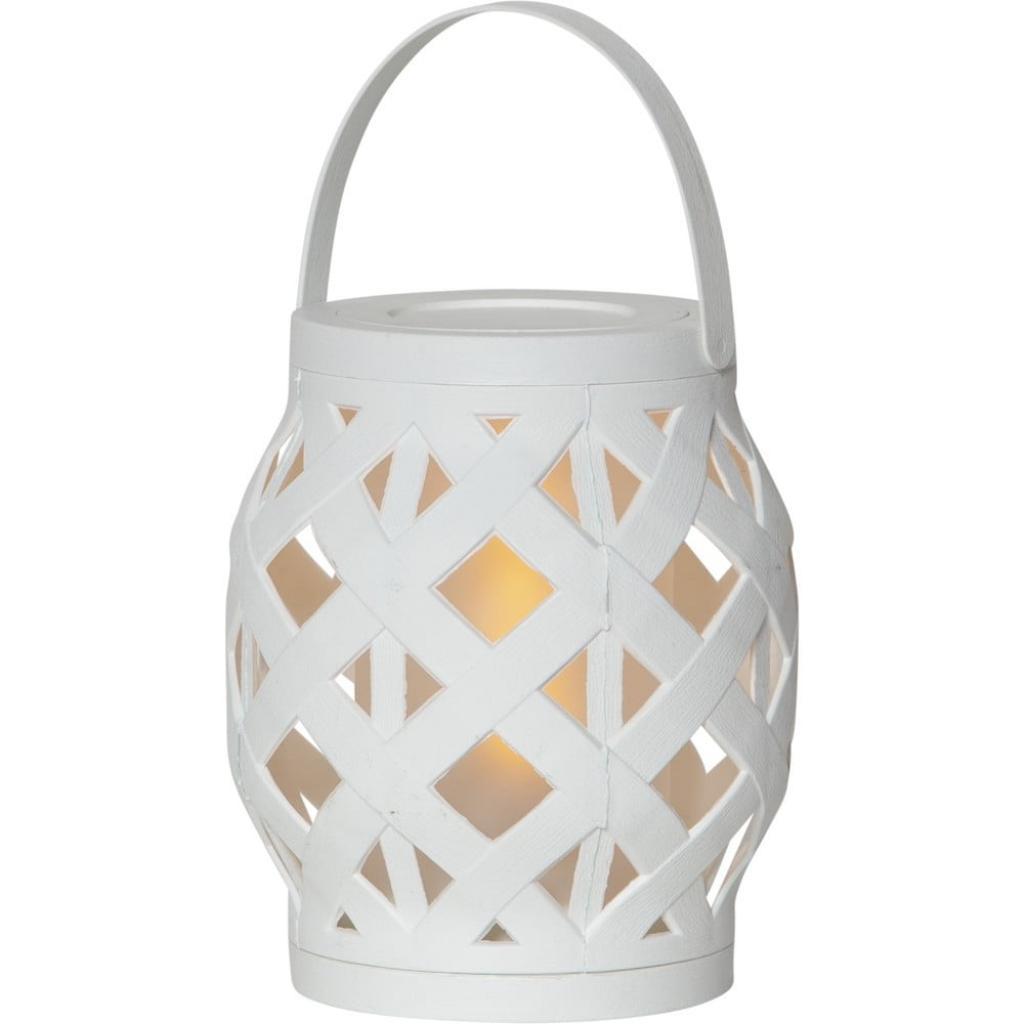 Produktové foto Bílá lucerna Best Season Flame Lantern, 14 x 16 cm