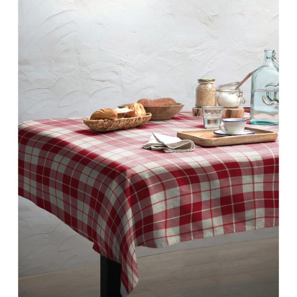Produktové foto Ubrus Linen Couture Cuadros, 140 x 200 cm