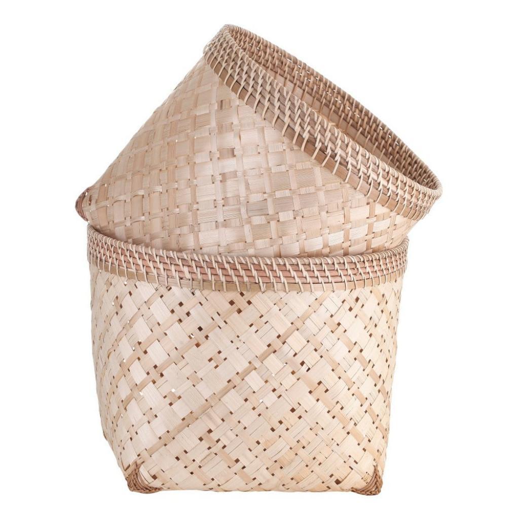 Produktové foto Sada 2 bambusových úložných košů A Simple Mess Anaya