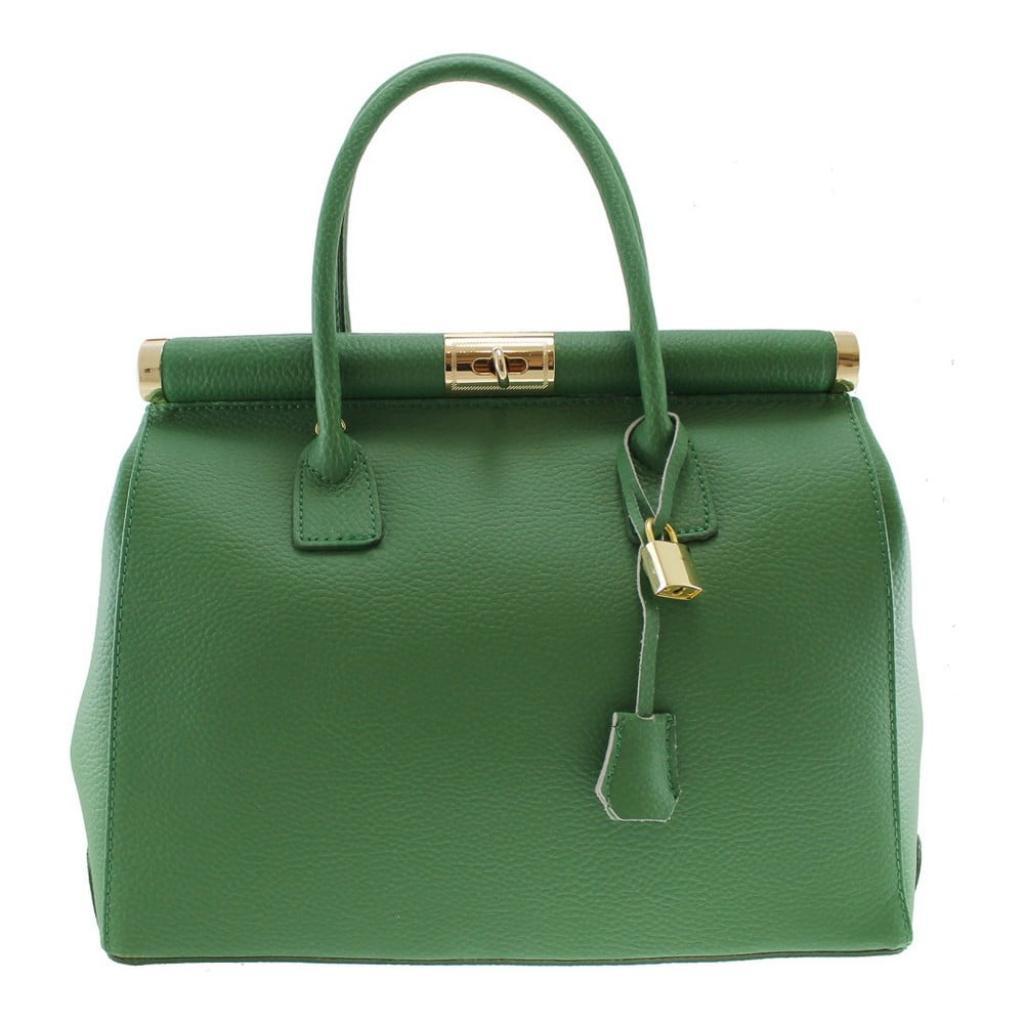 Produktové foto Zelená kožená kabelka Chicca Borse Blair