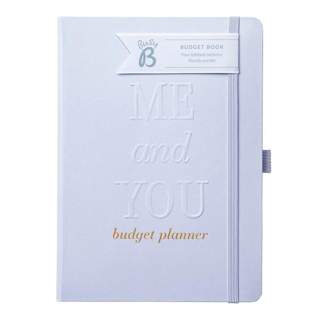 Produktové foto Zápisník ve stříbrné barvě na svatební rozpočet Busy B