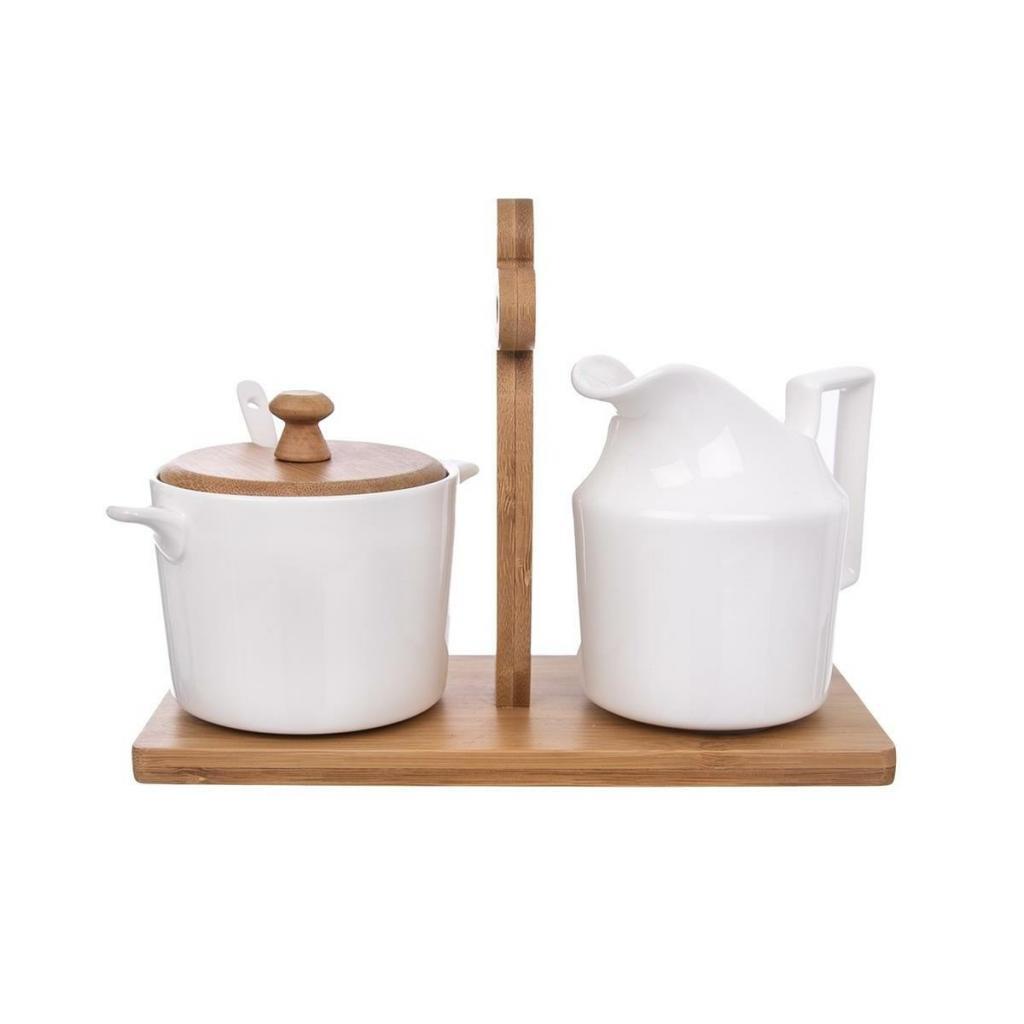Produktové foto Orion Sada mlékovky a cukřenky se stojanem Bambu