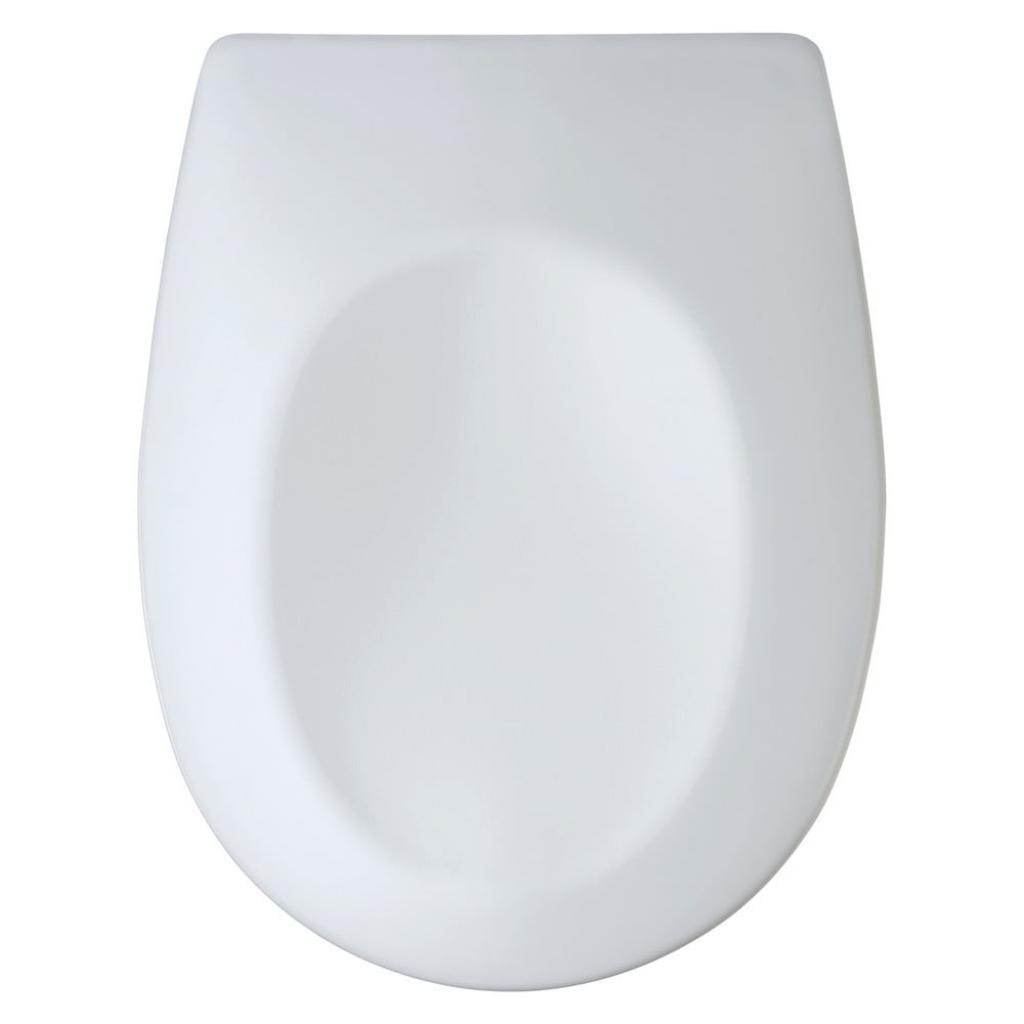 Produktové foto Bílé toaletní prkénko se snadným zavíráním Wenko Vorno Duroplast